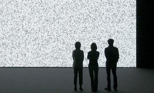 One of Ryoji Ikeda's installations.